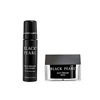 Combo Black Pearl - Sữa Rửa Mặt Dạng Bọt + Kem Dưỡng Ban Ngày SPF25 -  Giúp Da Luôn Sạch Cân Bằng Và Dưỡng Ẩm Cho Da Khô