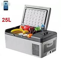 Tủ lạnh mini dùng trong nhà và trên ô tô C-25 Công suất 45W dung tích 25L, kết nối thông minh với điện thoại