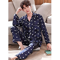 Đồ bộ mặc nhà pijama Nam phi bóng chấm trái tim nhỏ gắn kết yêu thương-88216