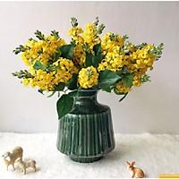Hoa Giả Hoa Lụa - Combo 3 cành HOA HOÀNG YẾN 1 CÀNH 5 NHÁNH Dài 29cm