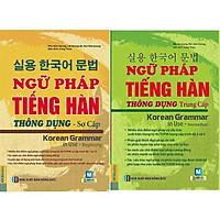 Combo 2 cuốn Ngữ pháp tiếng Hàn thông dụng (sơ cấp) + Ngữ pháp tiếng Hàn thông dụng (trung cấp) (Tặng kèm bookmark CR)