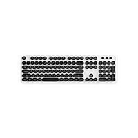 Bàn phím không dây thiết kế Retro Wireless khoảng cách kết nối 10 met Keyboard Actto KBD-48 - Hàng chính hãng