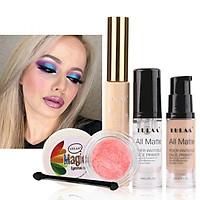 Makeup Set Highlighter Eye Shadow Liquid Makeup Primer Foundation Concealer Makeup Complete