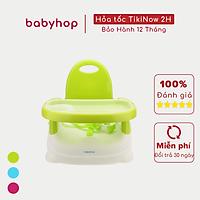 Ghế ăn dặm gugu Babyhop cho bé 3 nấc điều chỉnh kèm đai an toàn, thiết kế chắc chắn có thể gấp gọn, được làm từ nhựa nguyên sinh an toàn cho sức khỏe của bé - Hàng chính hãng