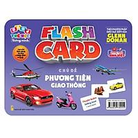 Flash card Theo phương pháp giáo dục sớm của Glenn Doman – Thẻ học thông minh (song ngữ Anh Việt) - Chủ đề: Phương tiện giao thông