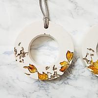 Vòng tròn treo độc đáo để trang trí tường, khuếch tán tinh dầu và trang trí với hoa bồ công anh