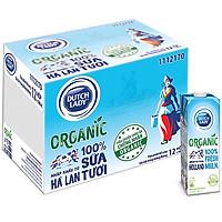 Thùng 12 Hộp Sữa Tươi Tiệt Trùng Dutch Lady Cô Gái Hà Lan Organic (12 X 1L)