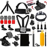 Bộ Phụ Kiện 27 món in 1 GOPRO SJCAM XIAOMI YI action camera cho máy ảnh điện thoại