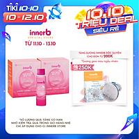 Combo 2 hộp 6 chai nước uống Collagen Vitamin C sáng da InnerB Glowshot (50ml x 6)
