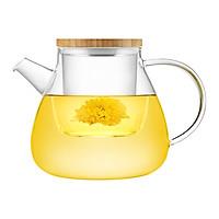 Bình lọc trà hoa thủy tinh Samadoyo S094 (600ml)