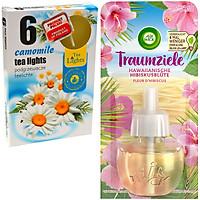 Mua 1 Hộp 6 nến thơm Tealight Admit hoa cúc la mã + tặng 1 Lọ tinh dầu thiên nhiên Air Wick Hawaiian Hibiscus Flower 19ml QT0857 - hoa dâm bụt Hawaii