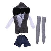 Fashion Sports Outfits Top & Shorts Suit for 1/3  Night Lolita Doll Accs