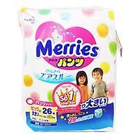 Tã/Bỉm Quần Merries Size XXL 26 miếng (dành cho bé...