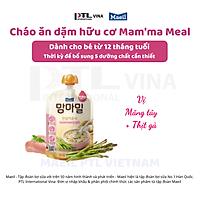 Cháo ăn dặm hữu cơ Mam'ma meal vị măng tây và thịt gà 12M