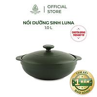 Nồi sứ dưỡng sinh Minh Long - Luna 1.0 L + nắp dùng cho bếp từ