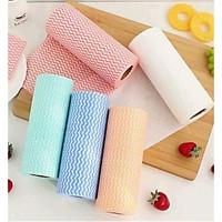 Combo 5 cuộn giấy lau đa năng loại đẹp,giấy lau, đồ dùng phòng bếp, vệ sinh nhà cửa ( giao mầu ngẫu nhiên)