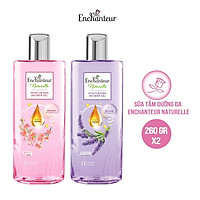Combo Sữa tắm dưỡng da Enchanteur Naturelle hương hoa Lavender và Iris 260gr/Chai