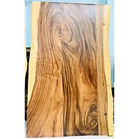 Mặt bàn gỗ me tây ghép tự nhiên bền đẹp dài 1m4