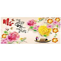 Tranh thêu chữ thập ơn Cha Mẹ ( chưa thêu) - X8188
