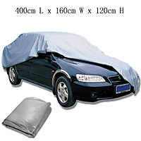 400cm L x 160cm W x 120cm H Size S Waterproof Breathable Full Car Cover UV Indoor Outdoor Protection Kit