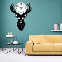 Deer Head Wall Clock Iron Art Quartz Living Room Wall Watch Nordic Decor By DHL
