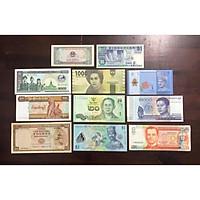 Combo bộ 11 tờ tiền cổ khác nhau của 11 nước ASEAN