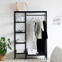 Giá Tủ Treo Quần Áo Gỗ Double Hanger Size M Nội Thất Kiểu Hàn BEYOURs - Đen