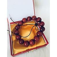 Combo Vòng đeo tay phong Thủy Gỗ Đàn Hương Đỏ Tự Nhiên Brasil, Kèm hộp đựng lót lụa vàng