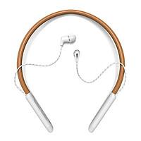 Tai nghe Klipsch Bluetooth T5 Neckband-Hàng Chính Hãng-Nâu Trắng