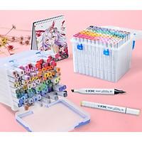 Bút marker Touch 7, màu dạ 2 đầu thế hệ mới hộp nhựa chuyên nghiệp vẽ anime manga