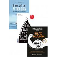 Combo 3 cuốn sách phát triển bản thân (10 Phút Tĩnh Tâm - 17 Thói Quen Giúp Bạn Cân Bằng Cuộc Sống Hiện Đại + Đừng Bao Giờ Từ Bỏ Giấc Mơ + Sức Mạnh Của Động Lực) tặng kèm bookmark