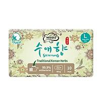 BĂNG VỆ SINH HỮU CƠ THẢO DƯỢC NEOSIS SOOAEHYANG BAN NGÀY của Hàn Quốc_Size L_28cm_1 gói/10 miếng