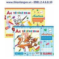 Vở vẽ lò xo xé A4 - 30 tờ; Klong 708