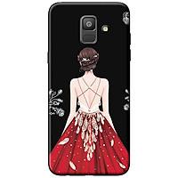 Ốp Lưng Dành Cho Samsung A3 2016 Cô Gái Váy Đỏ Áo Dây