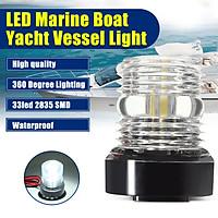 (360 Degree Lighting)33led 2835 SMD Waterproof LED Marine Boat Yacht Vessel Light Anchor Stern Navigation Light?DC12V 250LM 5500-6300K-WHITE