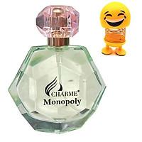 Nước hoa Nữ Charme Monopoly 50ml -   Tặng Kèm Thú Nhún Mặt Cười Siêu Dễ Thương