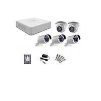 Trọn Bộ 5 Camera Hikvision 720P (Gia Đình, Cửa Hàng) Hàng Chính Hãng
