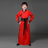Trang Phục Cổ Trang Trung Quốc Trang Phục Đại Hiệp Hán Phục Cổ Trang Cho Bé Trai - Màu đỏ