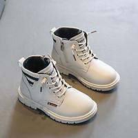 Bốt cổ caocho bé gái, giày bốt cổ ngắn phong cách Anh Quốc cho bé 3 - 12 tuổi GC48