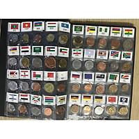 Bộ Album xu 120 nước quốc tế có cờ ABXQT120