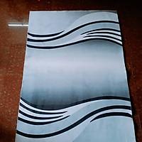 Thảm nhung 3D họa tiết xám đen TSN25 (120x160cm)