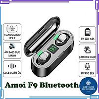 Tai Nghe Bluetooth Amoi F9 Cảm Ứng Vân Tay, Cách Âm Chống Ồn - Hàng Chính Hãng