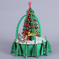 Đồ chơi lắp ráp gỗ 3D Mô hình Cây thông Noel Christmas Tree Laser