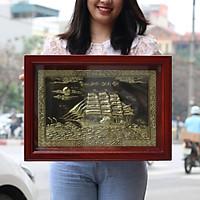 Tranh Thuận Buồm Xuôi Gió ( Thuyền Buồm ) Bằng Đồng Phong Thủy Lê Gia