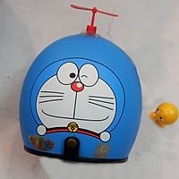 Mũ Bảo hiểm đẹp 3/4 đầu Doraemon Kèm chong chóng thần kỳ + Tặng thú nhún Emoij siêu cute
