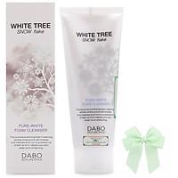 Sữa rửa mặt trắng da từ tinh thể tuyết trắng  White Free DABO hàn quốc (150ml) và nơ