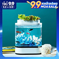 hồ cá mini xiaomi hàng nhập khẩu thông minh  (không cá và cây, đồ trang trí)