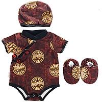 Bộ Bodysuit Tết cho bé hình Chữ Hỷ Kèm Nón Và Vớ - Mihababy - TET_HY