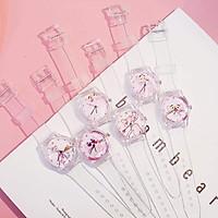 (ngẫu nhiên) Đồng hồ thời trang nữ Unisex dây nhựa trong siêu cá tính R1854
