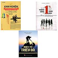 ComBo 3 Cuốn: Kinh Nghiệm Thành Công Của Ông Chủ Nhỏ + Người Thành Công Có 1% Cách Nghĩ Khác Bạn + Nhiệm Vụ Triệu Đô
